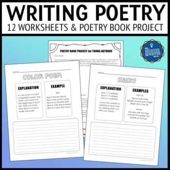 Poetry Unit & Book Project Worksheets