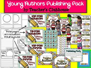 Young Authors Publishing Pack from Teacher's Clubhouse