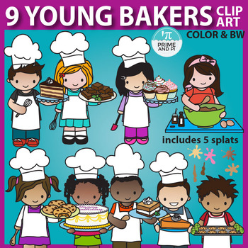 Young Bakers: Kids Baking Clip Art