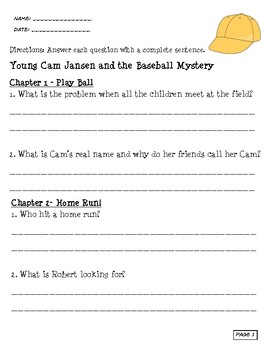 Young Cam Jansen and the Baseball Mystery