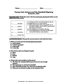 Young Cam Jansen and the Baseball Mystery CCG