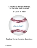 Young Cam Jansen and the Baseball Mystery Reading Comprehension Questions