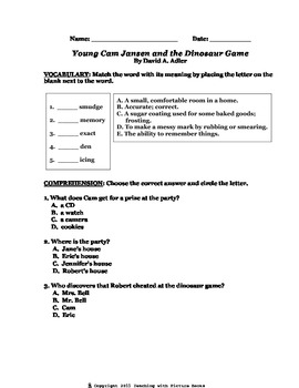 Young Cam Jansen and the Dinosaur Game CCG