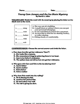 Young Cam Jansen and the Ice Skate Mystery CCG