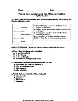 Young Cam Jansen and the Library Mystery CCG