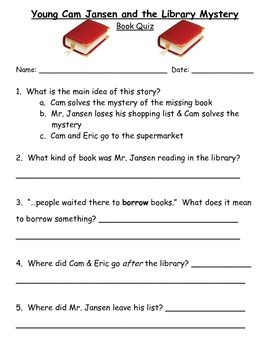 Young Cam Jansen and the Library Mystery: Guided Reading Packet