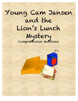 Young Cam Jansen and the Lion's Lunch Mystery Comprehensio