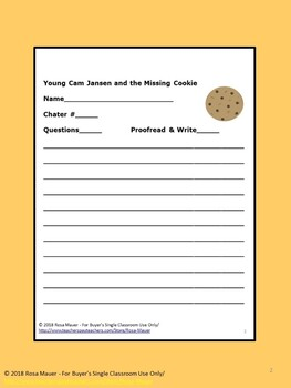 Young Cam Jansen and the Missing Cookie Book Unit