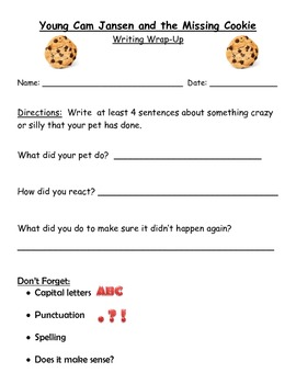 Young Cam Jansen and the Missing Cookie: Guided Reading Packet