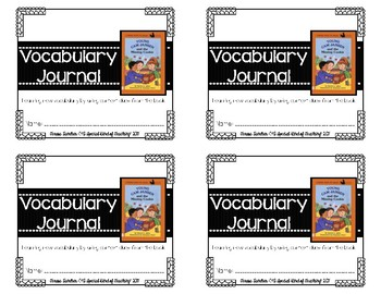 Young Cam Jansen and the Missing Cookie- Vocabulary Journal {Context Clues}