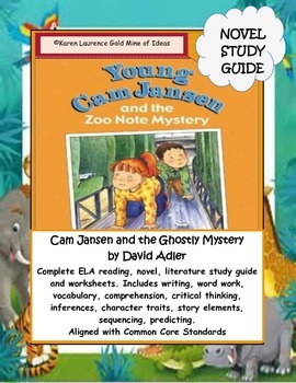 Young Cam Jansen and the Zoo Note Mystery Novel Reading Study Guide