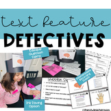 Young Detectives - Text Features Game ( Editable Questions )