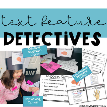 Text Feature Detectives ( Editable )