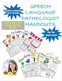 Young Elementary Speech/Language Handouts-Entire Year!