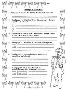Young George Washington: Text-Dependent Questions and More!