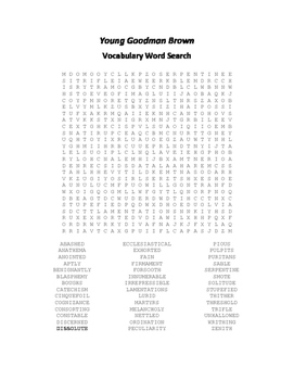 Young Goodman Brown Vocabulary Word Search
