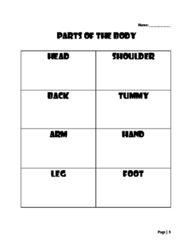 Young Learners ESL (Lesson 7) - Parts of the Body I
