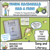 Young MacDonald Had a Farm Song and Literacy Pack Distance Learning