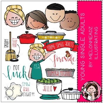 Young Single Adults clip art - LDS - COMBO PACK - by Melonheadz