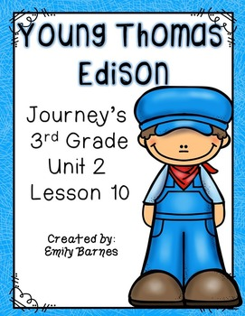 Young Thomas Edison Journey... by Emily Education | Teachers Pay ...