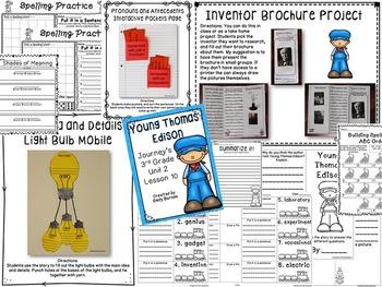 Young Thomas Edison Journeys 3rd Grade Unit 2 Lesson 10