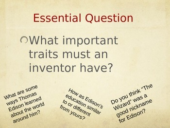 Young Thomas Edison PPT Journeys Lesson 10