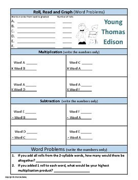 Young Thomas Edison Roll Read and Graph