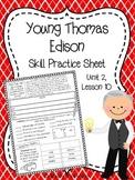 Young Thomas Edison (Skill Practice Sheet)