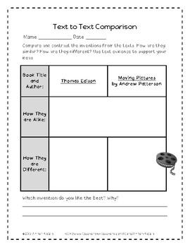 Thomas Edison Mini Pack Activities 3rd Grade Journeys Unit 2, Lesson 10