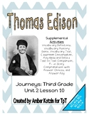 Thomas Edison Mini Pack Activities 3rd Grade Journeys Unit