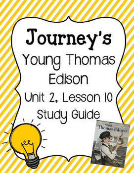 Young Thomas Edison - Vocabulary Study Guide