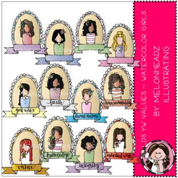 Young Women Values clip art - LDS - by Melonheadz