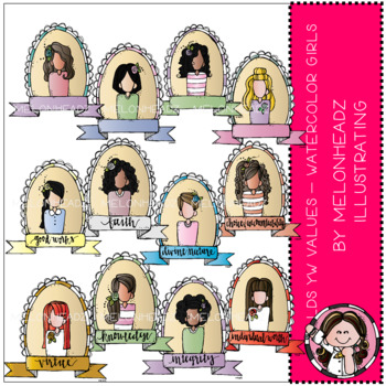Young Women Values clip art - LDS - by Melonheadz - COMBO PACK
