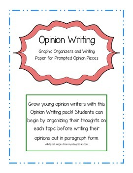 Young Writers Opinion Writing Pack