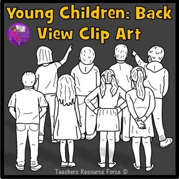 Kids from behind clip art
