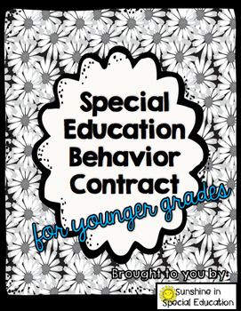 Younger Grade Special Education Contract