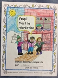 Youpi! C'est la récréation- FRENCH Student Workbook-Problem Solving- Grade 1-2