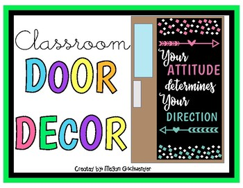 Your ATTITUDE determines your DIRECTION (Door Decor/Bulletin Board Kit)