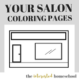 Your Beauty/Barber Shop Coloring Pages