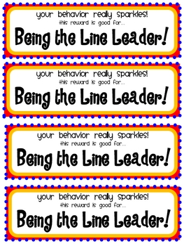 Your Behavior SPARKLES!: Behavior Incentives