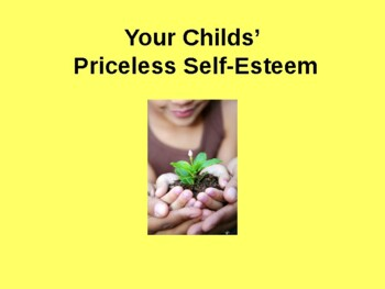 Your Child's Priceless Self-esteem