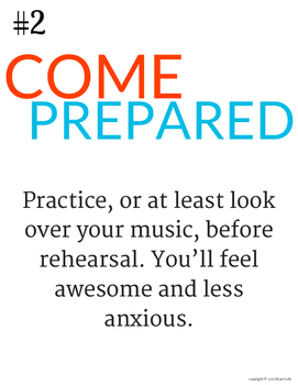 10 Rules for Choir: Printable Poster Set