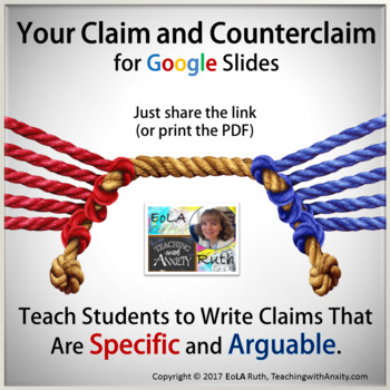 Your Claim and Counterclaim Digital Notebook (Argument Writing)