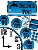 Your Classroom Clock in a Dolphin ~ Ocean ~ Beach Theme, T