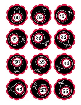 Your Classroom Clock in a Ladybug Theme, Teaching Time