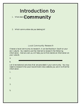 Your Community- An Introduction