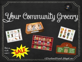 Your Community Grocery Activities Kit (Dramatic Play, Small Group, Large Group)