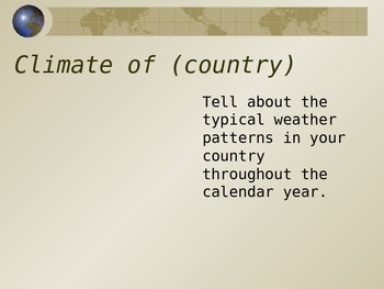Your Country Study PowerPoint Template