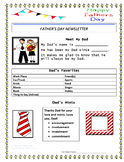 Your Dad's Father's Day Newsletter Card - Create With or Without a Computer