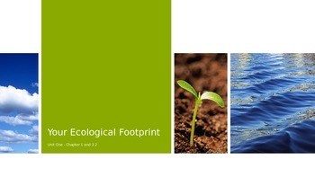 Your Ecological Footprint Powerpoint